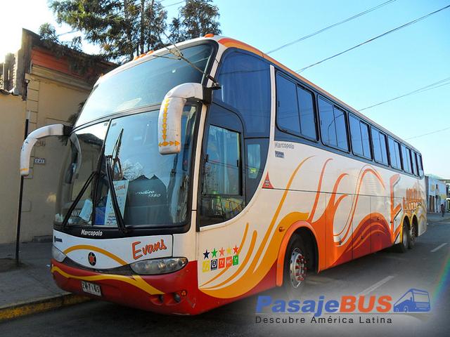 Buses Evans es una empresa de buses que va hacia Coquimbo, La Serena y otras ciudades del norte de Chile. Viaja con PasajeBus.com